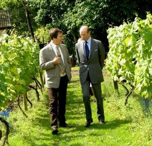Leventhorpe vineyard HRH Duke of kent